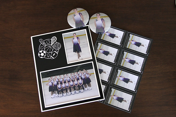Memory Mate w/ 8 Trading Cards & 2 Photo Buttons