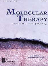 Consortium publication on the cover of Molecular Therapy, February 2002