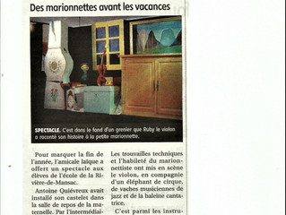 """Article de presse / Spectacle : """"Le violon perdu"""""""