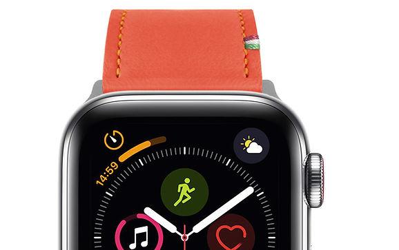 Striped Leather Watch Band orange 01.jpg