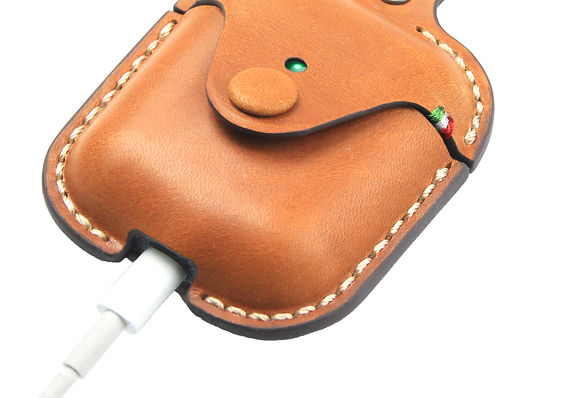 Leather Case for Apple AirPods Light Tan