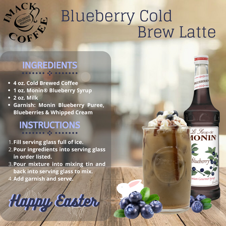 Blueberry Cold Brew Latte