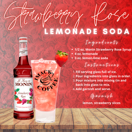 Strawberry Rose Lemonade Soda