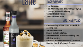 Blueberry Cobbler Latte