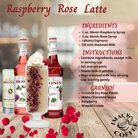 Raspberry Rose Latte