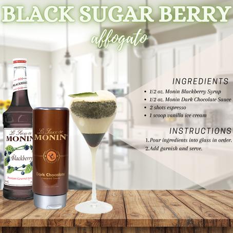 Black Sugar Berry Affogato