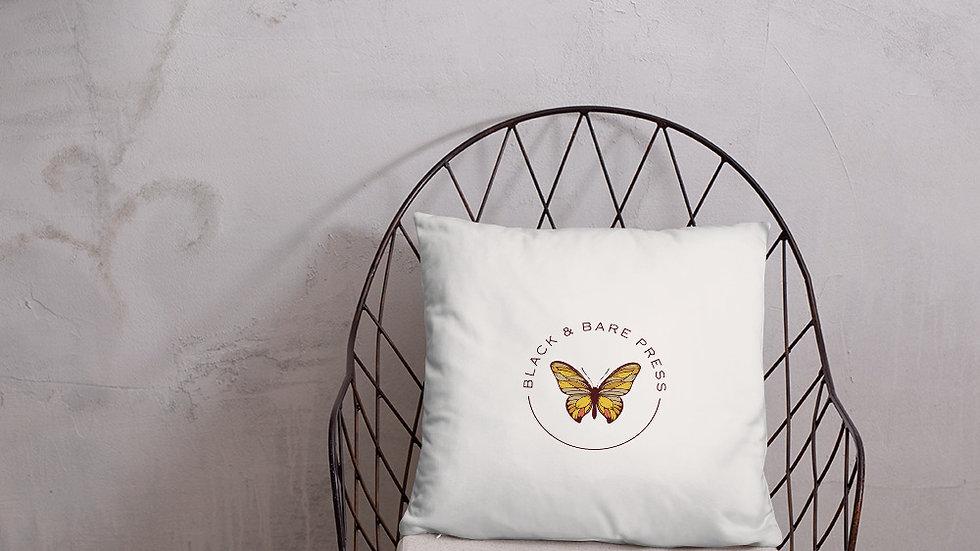 Black & Bare Logo Pillow