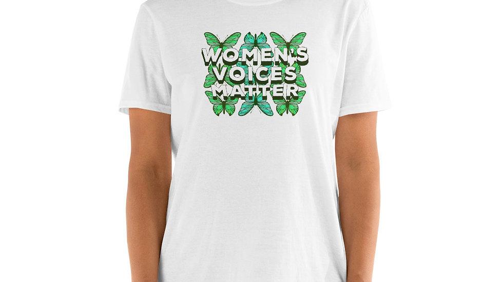 """""""Women's Voices Matter"""" Short Sleeved T Shirt"""