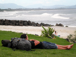 Backpacker sleeping on Main.jpg