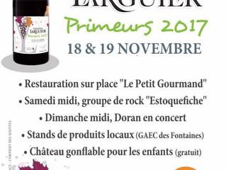Présentation du cotes du Rhône primeur à la cave Larguierles 18 et 19 Novembre