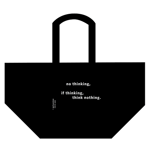 'no thinking' tote