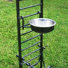 """""""Dusty"""" A wrought iron dog bowl stand for a growing great dane."""