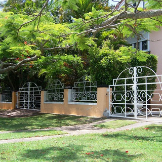 """""""Heritage"""" listed premises entrance gate 2 of 3."""