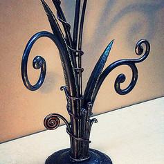 """""""Springtime"""" Wrought iron sculpture. (close-up detail.)"""