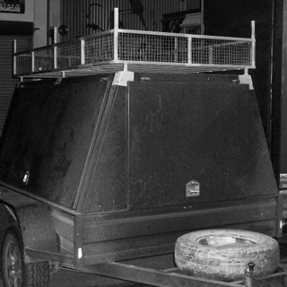 Tool trailer roof rack.