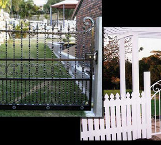 Side gates and picket fence gates.