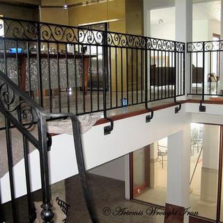 """Spanish"" inspired wrought iron balustrade."