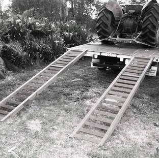 Light truck tractor ramps.