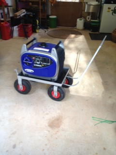 Generator trolley.  including rear footbrake.