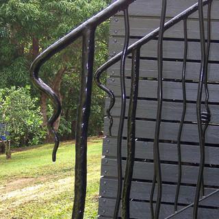 """Freeform"" balustrade end view."