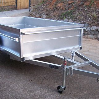 Custom trailer fabrication with extra high sides and full galvanised body.