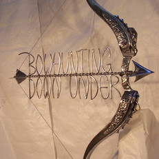 """Bowhunting Down Under"" Wrought iron signage. A commissioned art piece to adorn the ""Bowhunting"" magazine showroom."