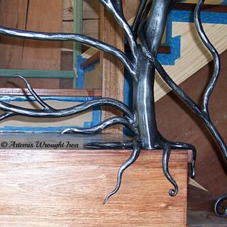 """Wild vine"" balustrade root system view."