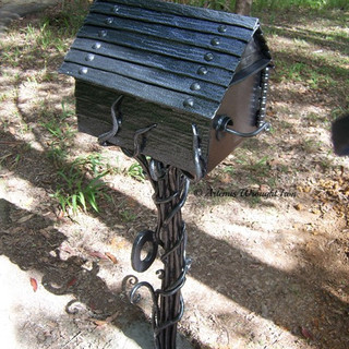 "The ""Sleepy hollow"" mailbox (close-up detail.)"