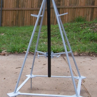 Moveable agricultural sprinkler stand.