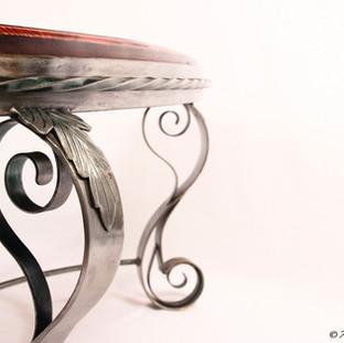 """""""Art Nouveau""""  Coffee table (close-up detail.)"""