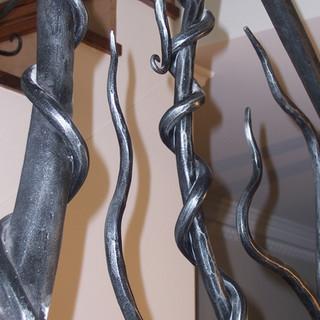 """Wild vine"" balustrade vine detail."