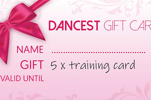 Dancest 5x training giftcard