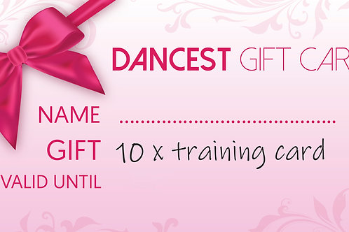 Dancest 10x training giftcard