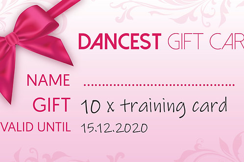 Dancest 10x training giftcard