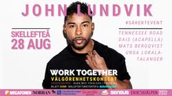 Välgörenhetskonsert Work Together med John Lundvik