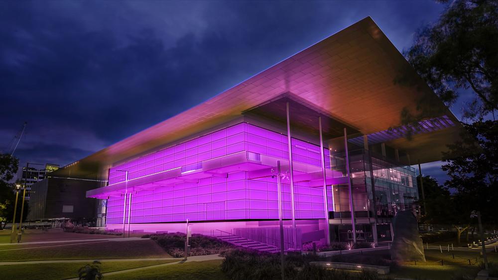 Impression of James Turrell Light Installation at GOMA Brisbane