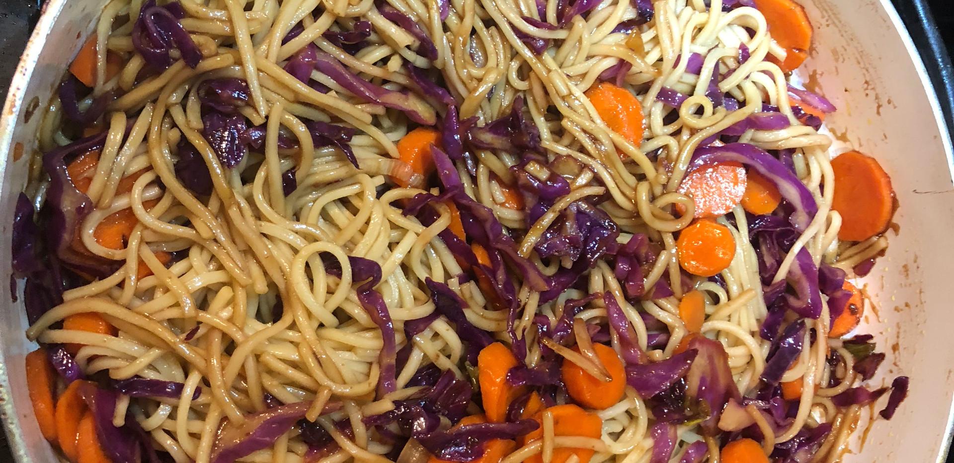 orange teryaki noodles