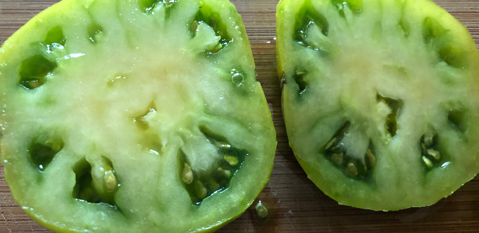 homegrown green tomato