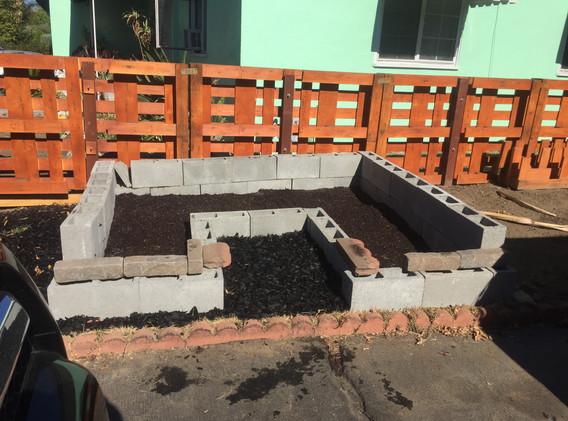 prepped garden