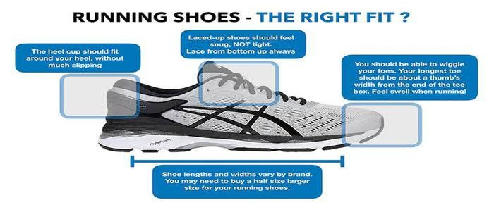 Q) How to get a great fit in running shoes?