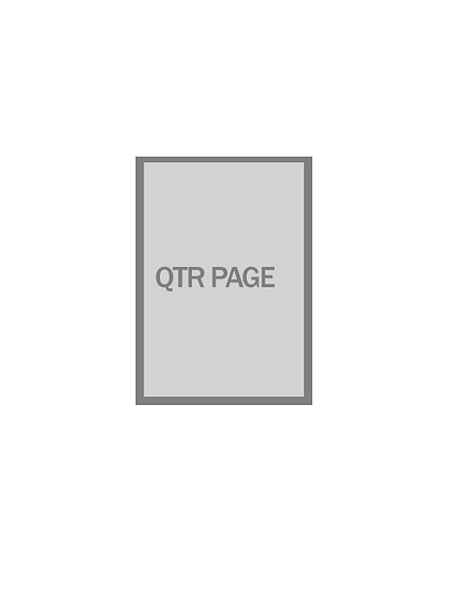 Quarter page program book ad (b/w)