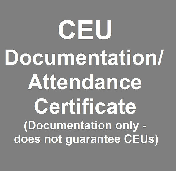 CEU Documentation/Attendance Certificate