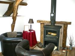 Converted Barn wood burner