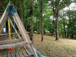 Log Cabin play area zip line