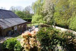 Main House rear garden and patio