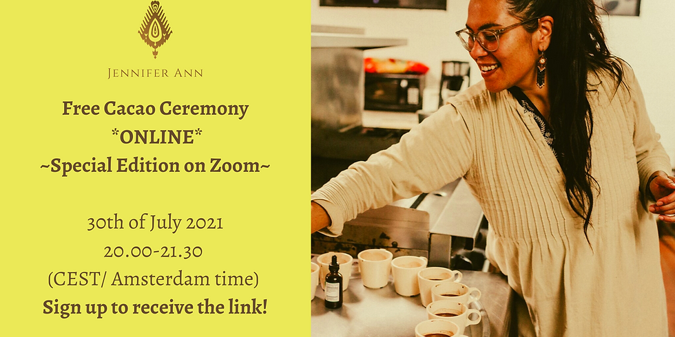 Free *Online* Cacao ceremony
