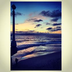 Sunset over Manhattan Beach pier