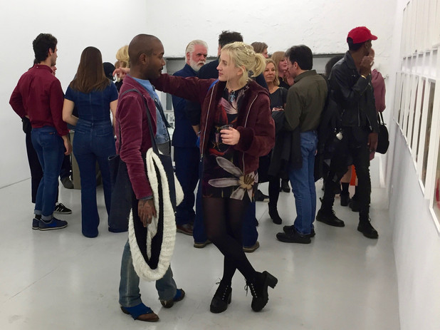 Opening night of solo exhibition at Danziger Gallery in New York