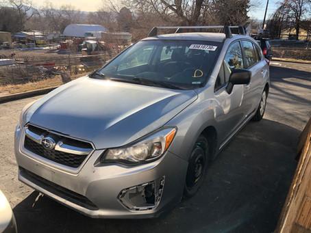 2013 Subaru Impreza wagon 2.0L 76k Auto Silver