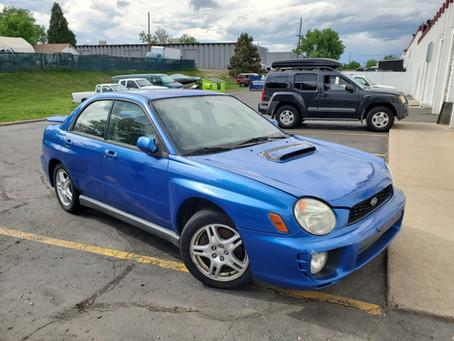 2003 Subaru WRX sedan 2.0L 120k M/T Blue